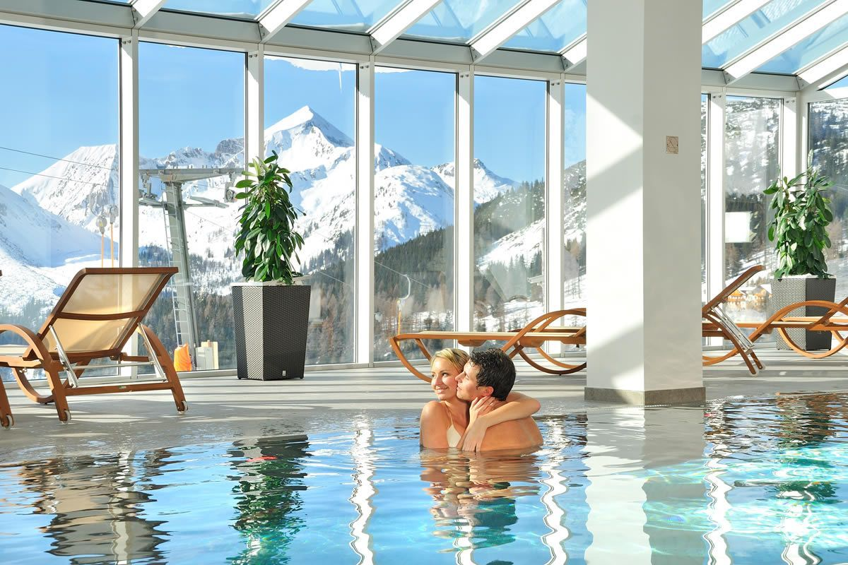 Hotel with panoramic indoor swimming pool, Hotel Almschlössl ...